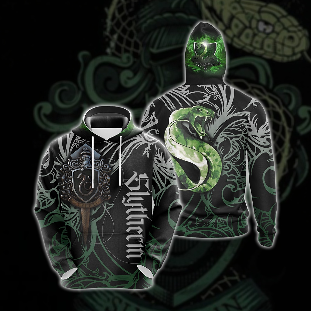 The Hogwarts Castle Slytherin Harry Potter Unisex 3D Hoodie