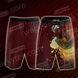 The Gryffindor Lion Hogwarts Harry Potter Beach Shorts