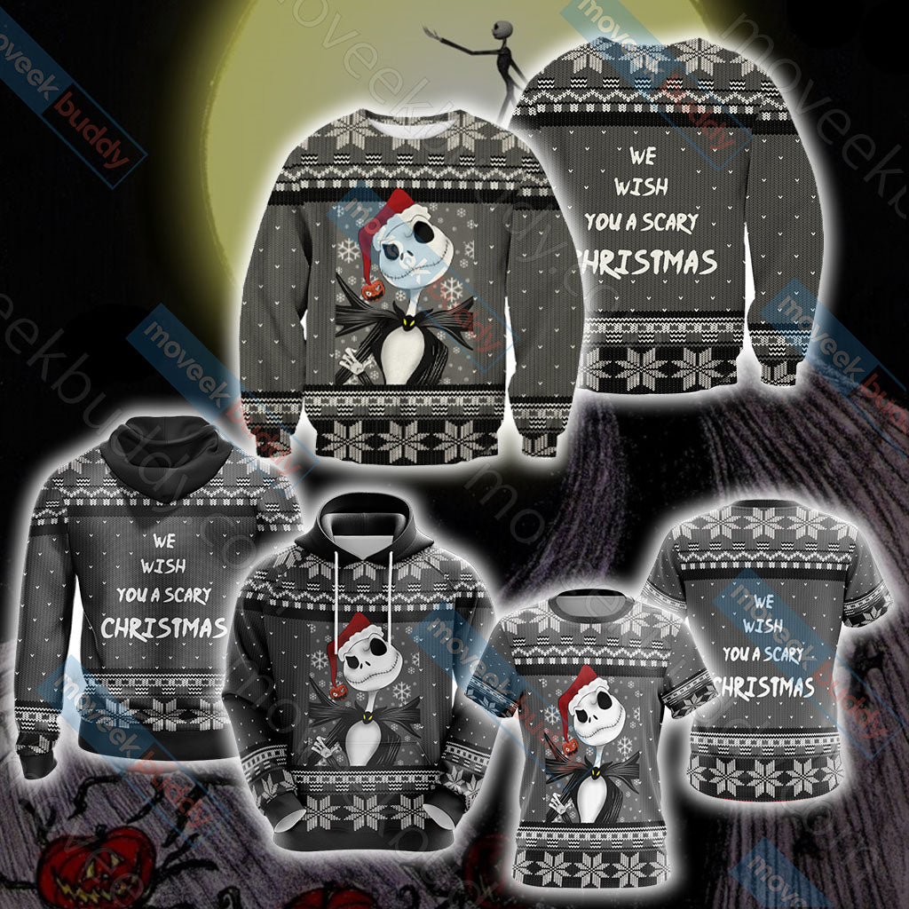Nightmare Before Christmas - We wish you a scary christmas Unisex 3D Hoodie