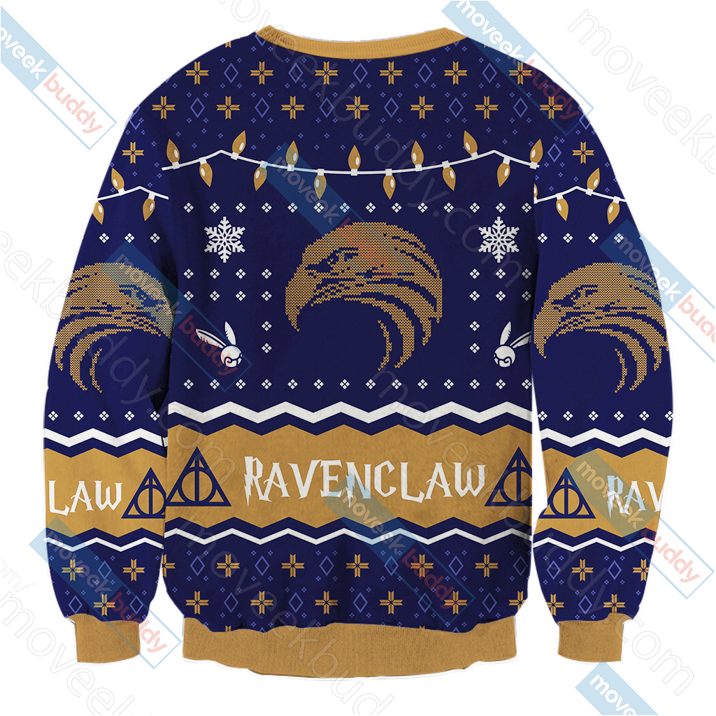 Harry Potter - Ravenclaw House Christmas Style Unisex 3D Sweater