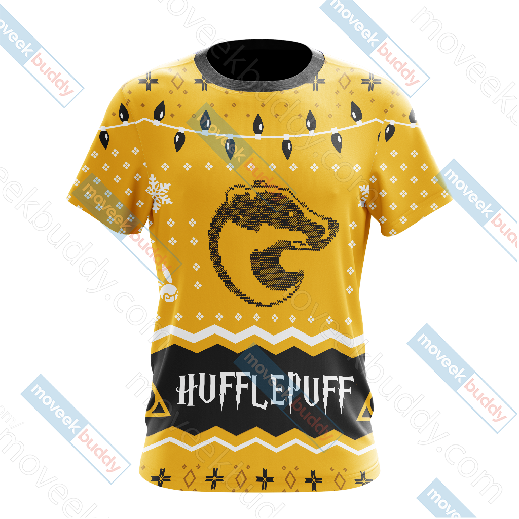 Harry Potter - Hufflepuff House Christmas Style Unisex 3D T-shirt