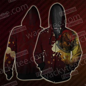 The Gryffindor Lion Hogwarts Harry Potter Zip Up Hoodie
