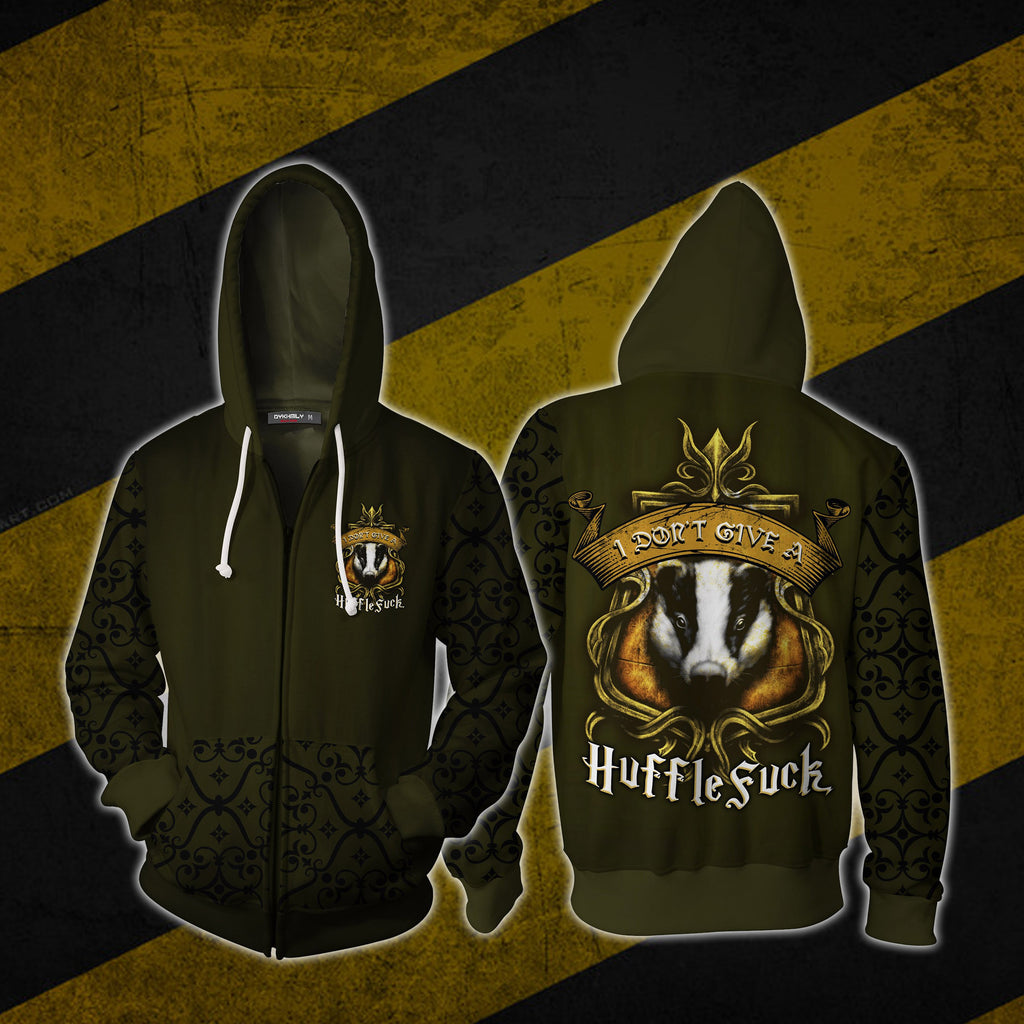 I Don't Give A HuffleFuck Harry Potter 3D Zip Up Hoodie