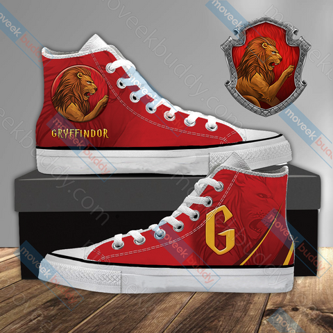 Image of Harry Potter - Gryffindor House Wacky Style High Top Shoes