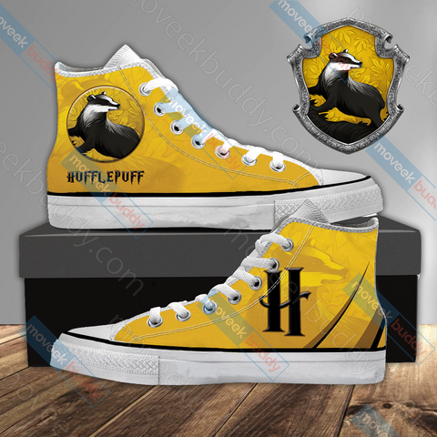 Image of Harry Potter - Hufflepuff House Wacky Style High Top Shoes
