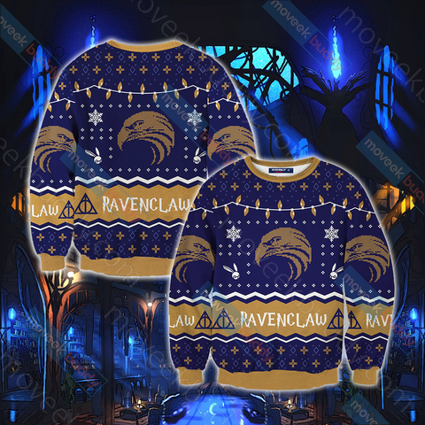 Image of Harry Potter - Ravenclaw House Christmas Style Unisex 3D Sweater