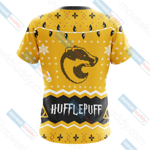 Image of Harry Potter - Hufflepuff House Christmas Style Unisex 3D T-shirt
