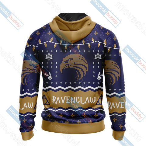 Image of Harry Potter - Ravenclaw House Christmas Style Unisex 3D Hoodie