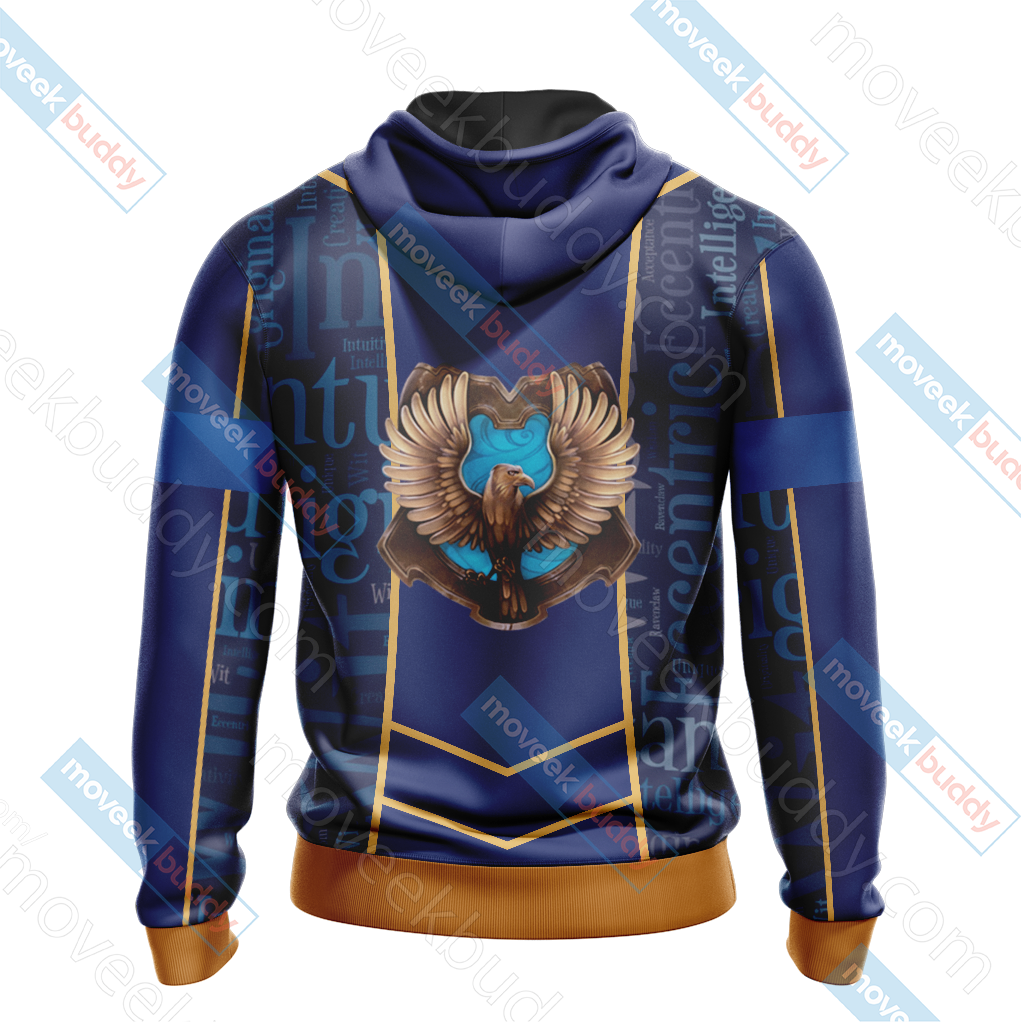 Harry Potter - Ravenclaw House New Lifestyle Unisex Zip Up Hoodie
