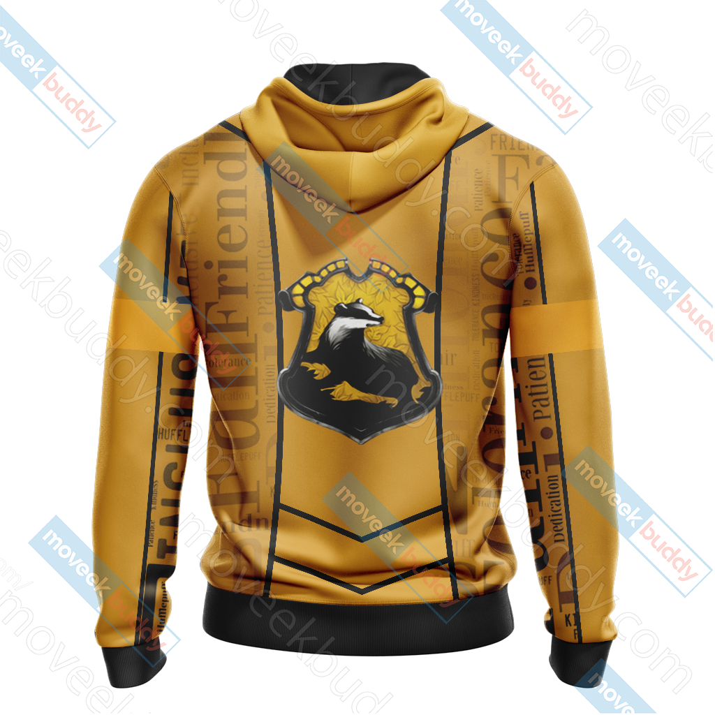Harry Potter - Hufflepuff House New Lifestyle Unisex Zip Up Hoodie