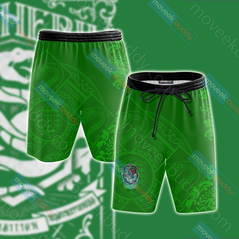 Image of Harry Potter - Cunning Like A Slytherin Version Lifestyle Unisex Beach Shorts
