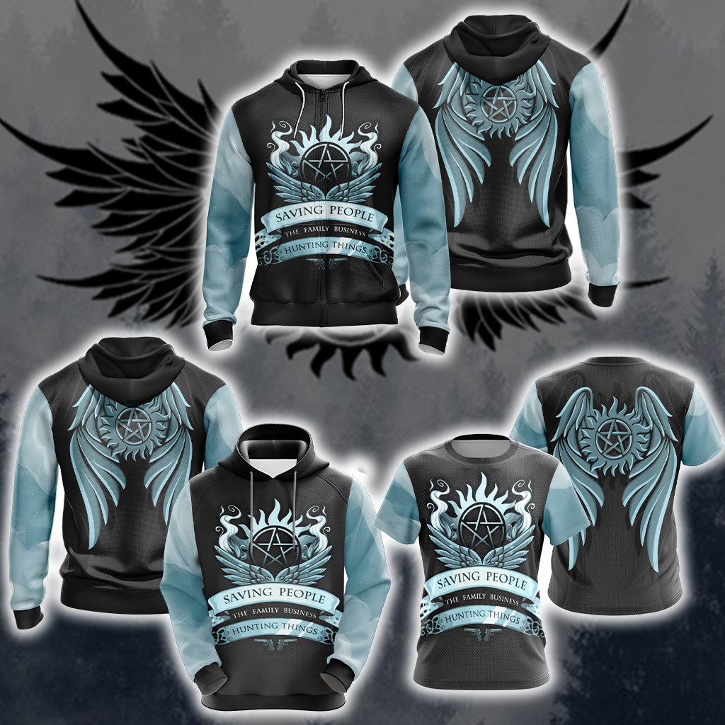 Supernatural Unisex 3D Zip Up Hoodie