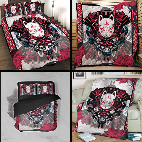 Image of Naruto Kitsune Mask 3D Quilt Set