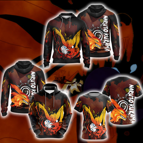Image of Naruto - Kurama Unisex Zip Up Hoodie