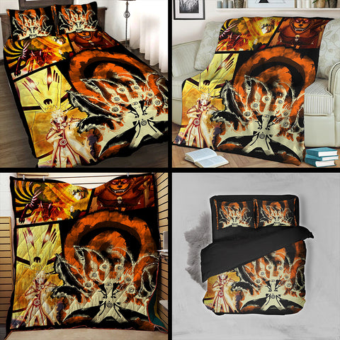 Image of Naruto Hokage 3D Quilt Bed Set