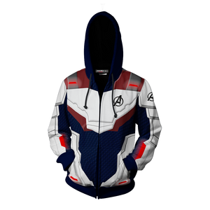 Avengers: Endgame Cosplay Zip Up Hoodie Jacket