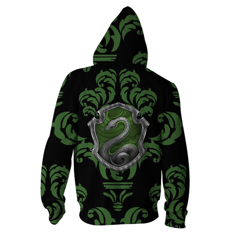 Image of Cunning Like A Slytherin Harry Potter New Collection Zip Up Hoodie