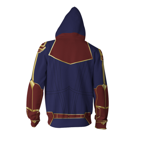 Image of Captain Marvel Cosplay New Look Zip Up Hoodie Jacket