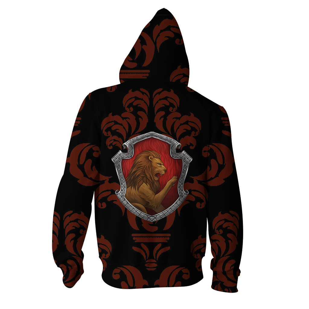 Brave Like A Gryffindor Harry Potter New Collection Zip Up Hoodie