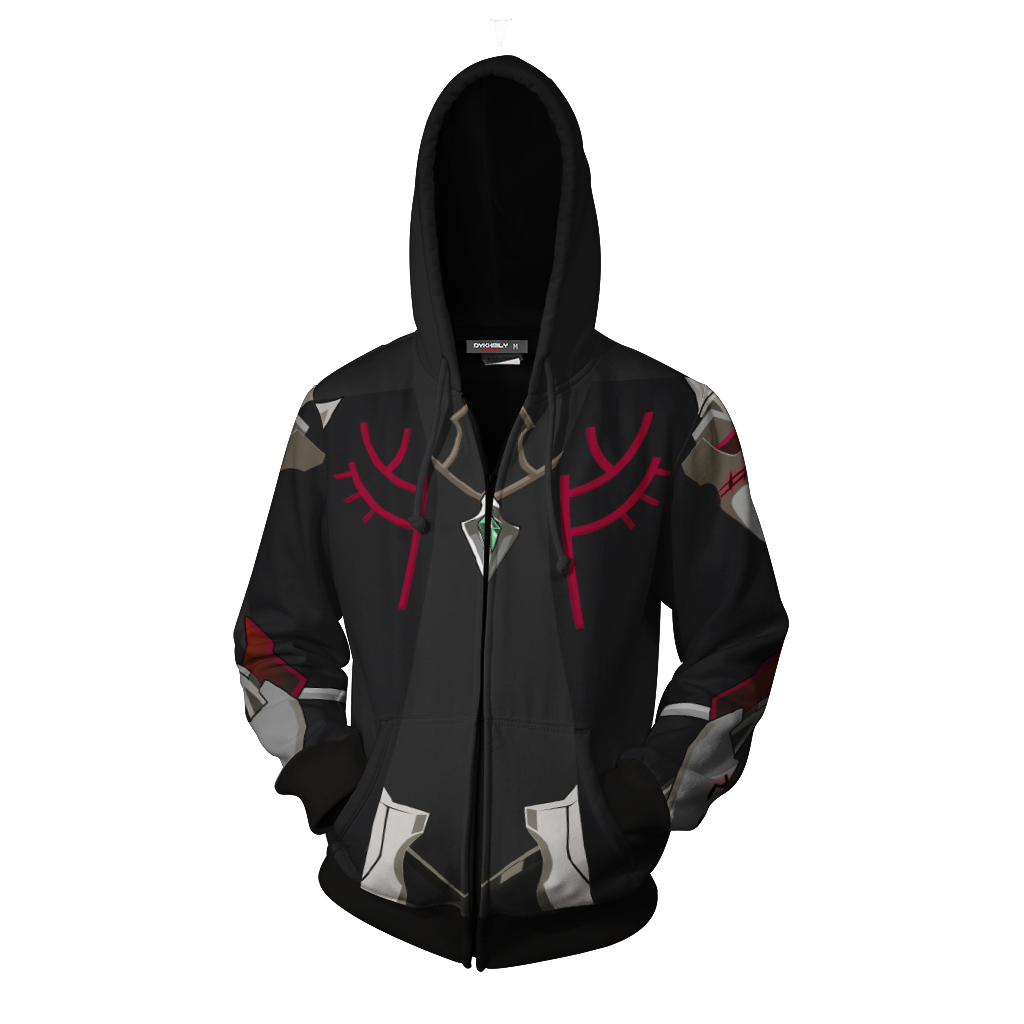 Elsword Solace Cosplay Zip Up Hoodie Jacket