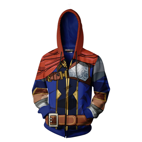 Image of Fire Emblem Ike Cosplay Zip Up Hoodie Jacket