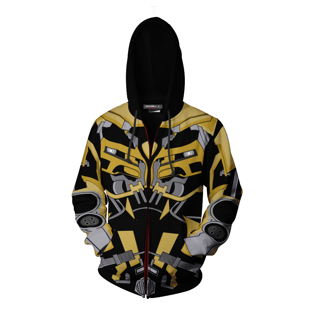 Bumblebee Cosplay Zip Up Hoodie Jacket