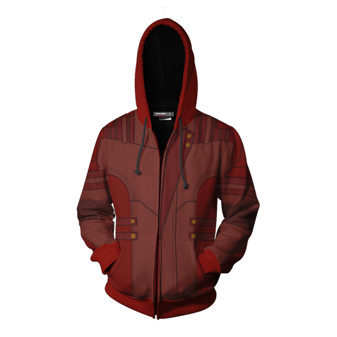 Image of Guardians Of The Galaxy Vol. 2 Star-Lord Cosplay Zip Up Hoodie Jacket