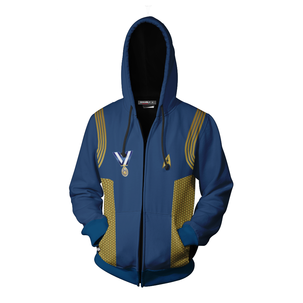 Star Trek: Discovery Uniforms Cosplay Zip Up Hoodie Jacket