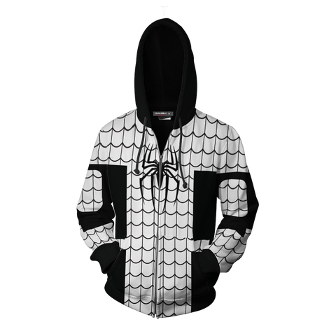 Image of The Amazing Spider-Man Spider Armor Cosplay Zip Up Hoodie Jacket