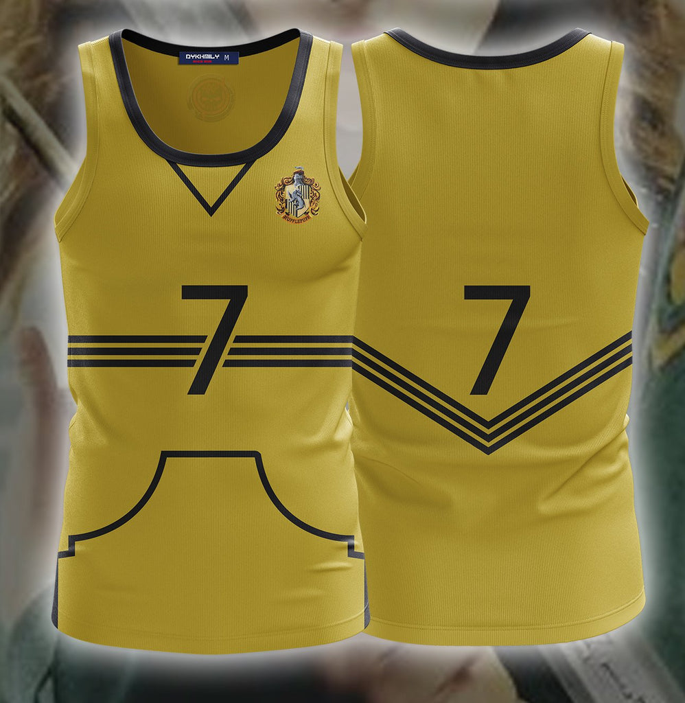 Harry Potter The Hufflepuff Quidditch Team 3D Tank Top