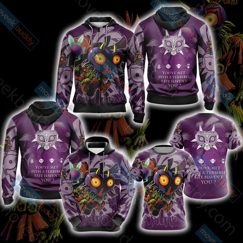 Image of The legend of Zelda: Majora's Unisex 3D Hoodie