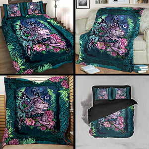 World of Warcraft - The Fairy Wings And Magic Cat 3D Quilt Blanket
