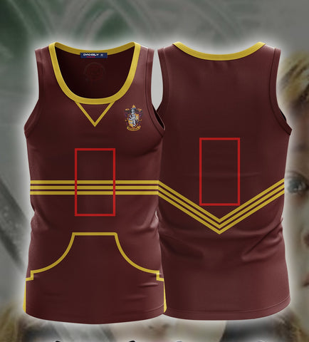 Harry Potter The Gryffindor Quidditch Team (Customized Number) 3D Tank Top