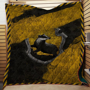 The Hufflepuff House Harry Potter 3D Quilt Blanket