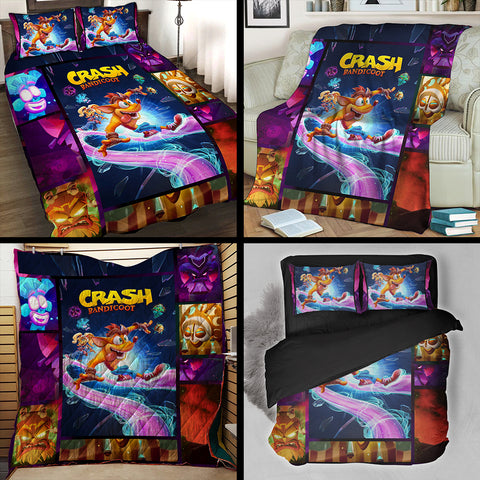 Crash Bandicoot 3D Bed Set