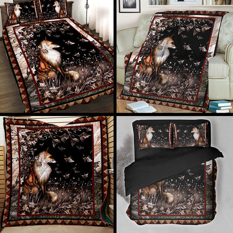 Image of Aesthetic Fox 3D Throw Blanket