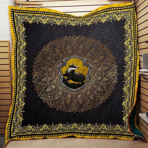 Hogwart House Hufflepuff Harry Potter 3D Quilt Blanket