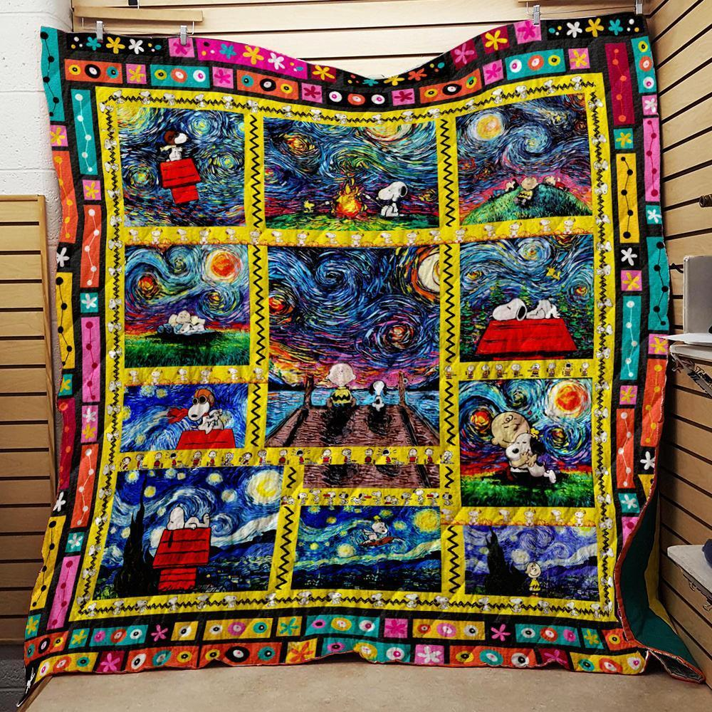 Charlie Brown And Snoopy Woodstock Art 3D Quilt Blanket