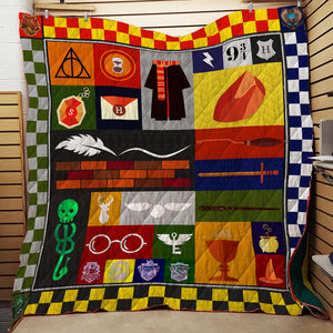 Harry Potter Symbols 3D Quilt Blanket