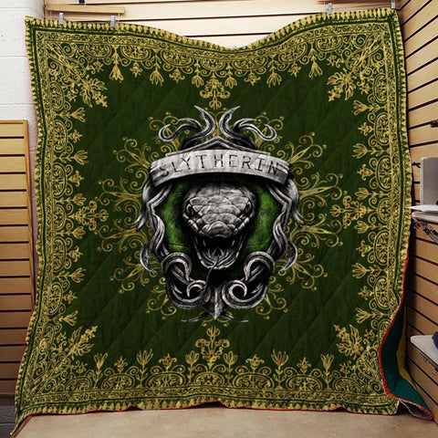 Mandala The Slytherin Snake Harry Potter 3D Quilt Blanket