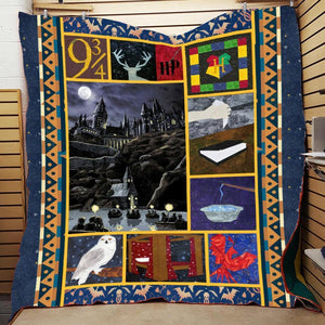 Hogwarts Castle Harry Potter 3D Quilt Blanket