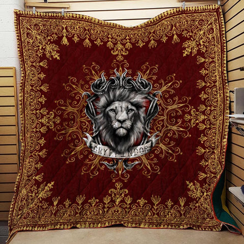 Mandala The Gryffindor Lion Harry Potter 3D Quilt Blanket