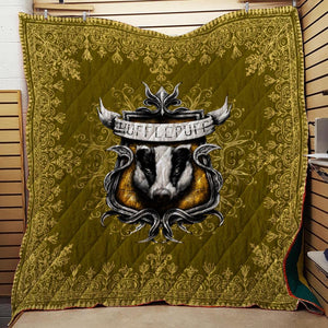 Mandala The Hufflepuff Badger Harry Potter 3D Quilt Blanket