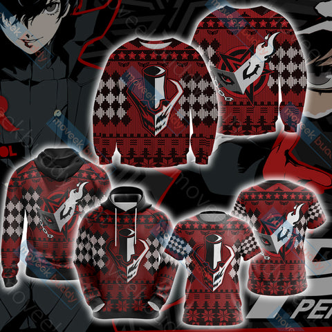 Image of Persona 5 Christmas Style Unisex 3D T-shirt
