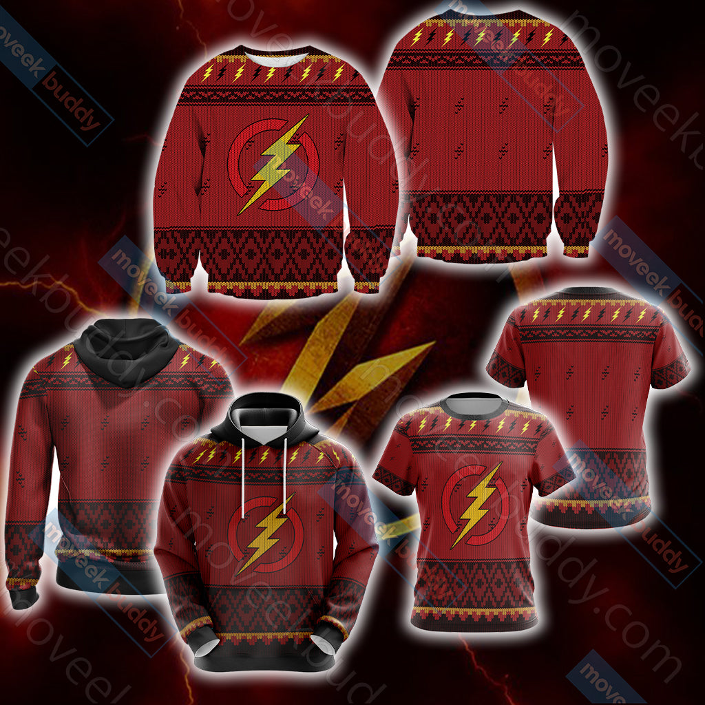The Flash Knitting Style Unisex 3D Sweater