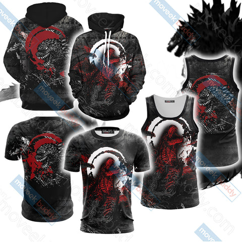 Godzilla King Of The Monsters New Version Unisex 3D Hoodie