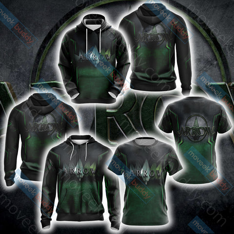 Image of Arrow New Unisex Zip Up Hoodie Jacket