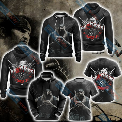 Gears Of War - Brother To The End Unisex Zip Up Hoodie Jacket