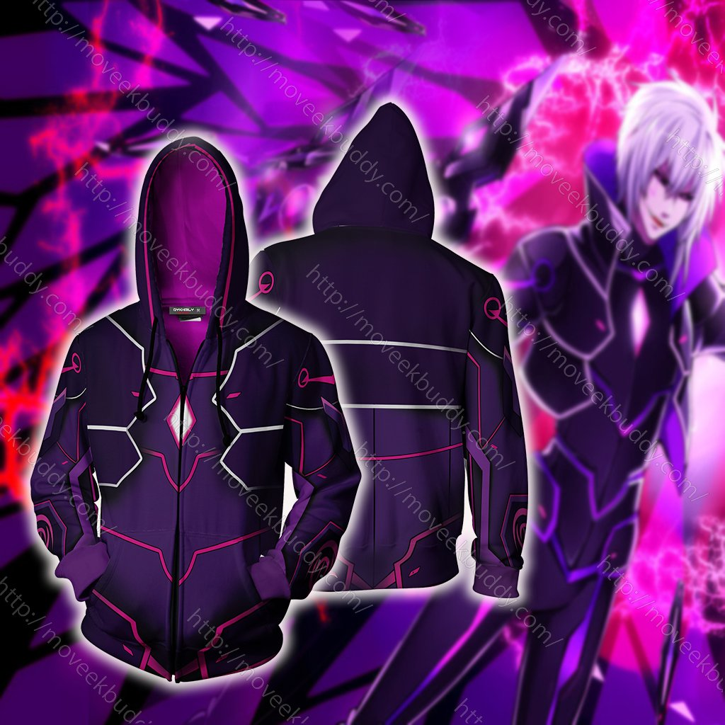Elsword Add Cosplay Zip Up Hoodie Jacket