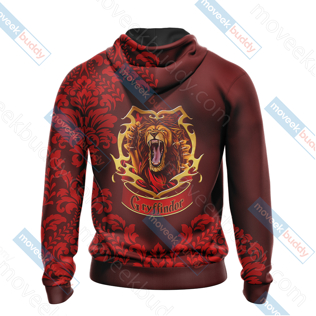 Harry Potter - Brave Like A Gryffindor Version Lifestyle Unisex 3D Hoodie
